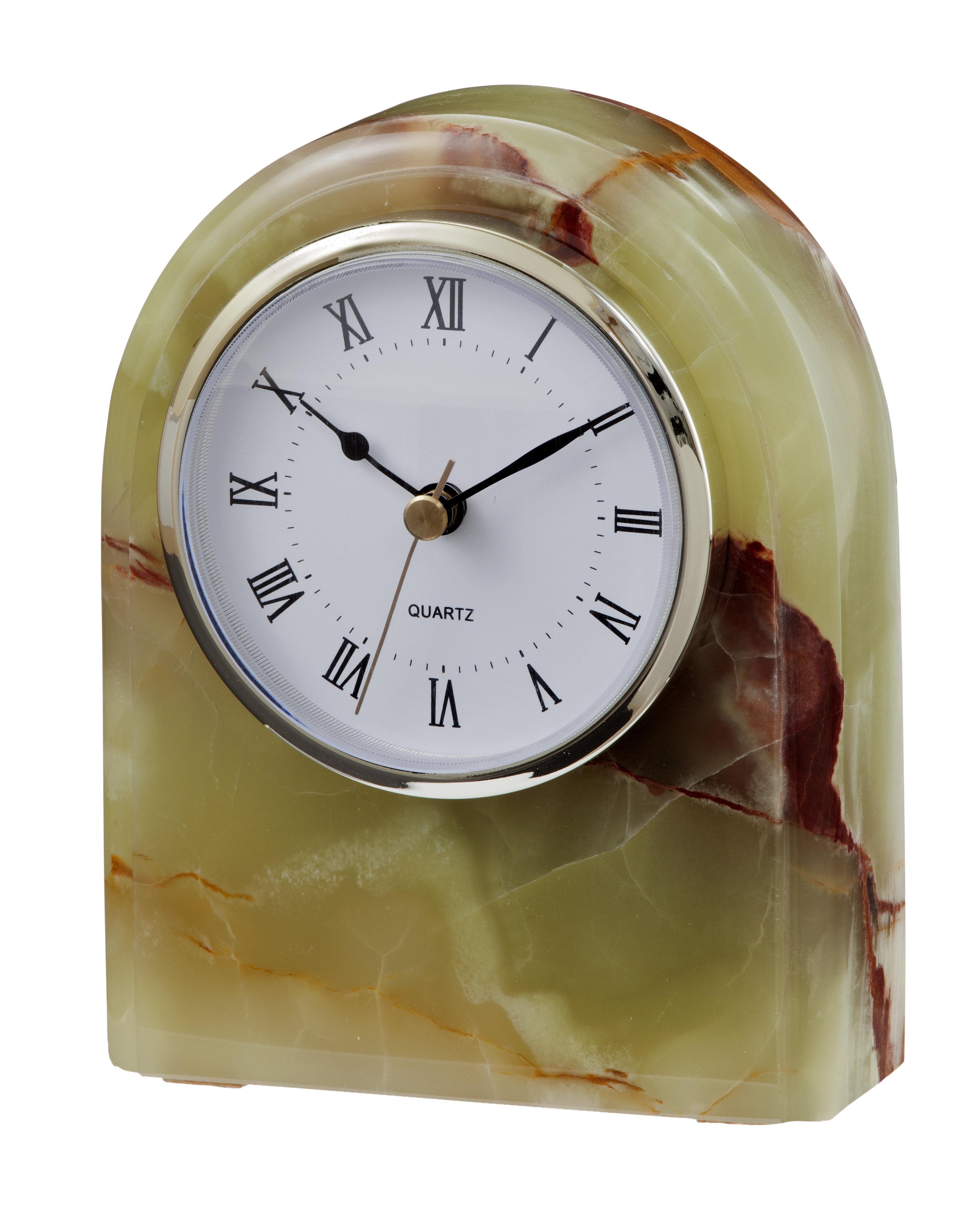 Whirl Green Onyx Polaris Clock