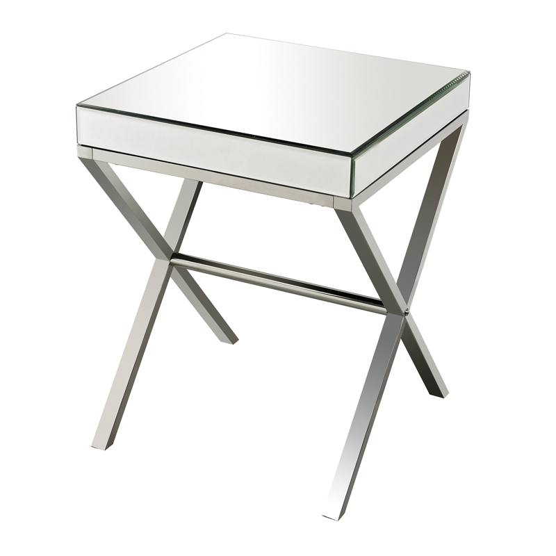 Klein Mirror Stainless Steel Side Table